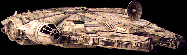 Millennium Falcon, original photo